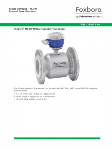 Foxboro® Model 9500A Magnetic Flow Sensor for all water and wastewater applications. PSS1-6H5A  sc 1 st  Kuantic : foxboro imt25 wiring - yogabreezes.com